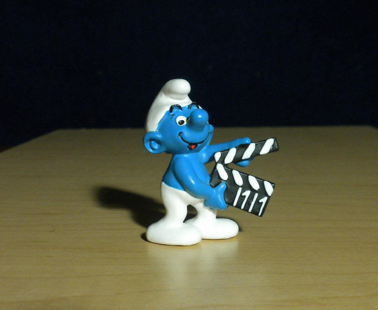 Smurfer 20710 Smurffilm från Clapperboard Film årgång Figur PVC 2008 leksak Figur