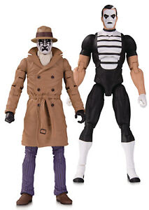 Dc-de-Collection-Doomsday-Horloge-Rorschach-amp-Mime-Action-Figurines
