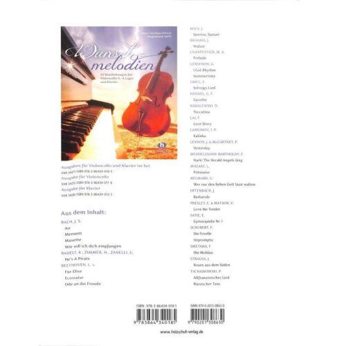 Musiknoten Anne Terzibaschitsch Wunschmelodien für Cello und Klavier
