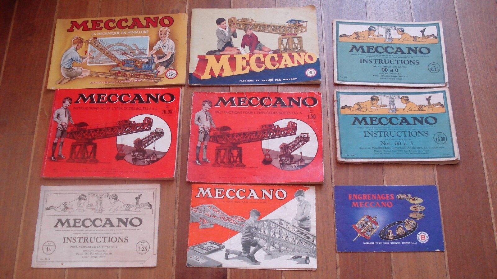 Lot de 9 livrets et Femmeuels Femmeuels Femmeuels de meccano anciens époques différentes. 955192