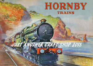Hornby-Dublo-1938-GWR-039-s-King-George-II-A3-Size-Poster-Advert-Shop-Sign-Leaflet