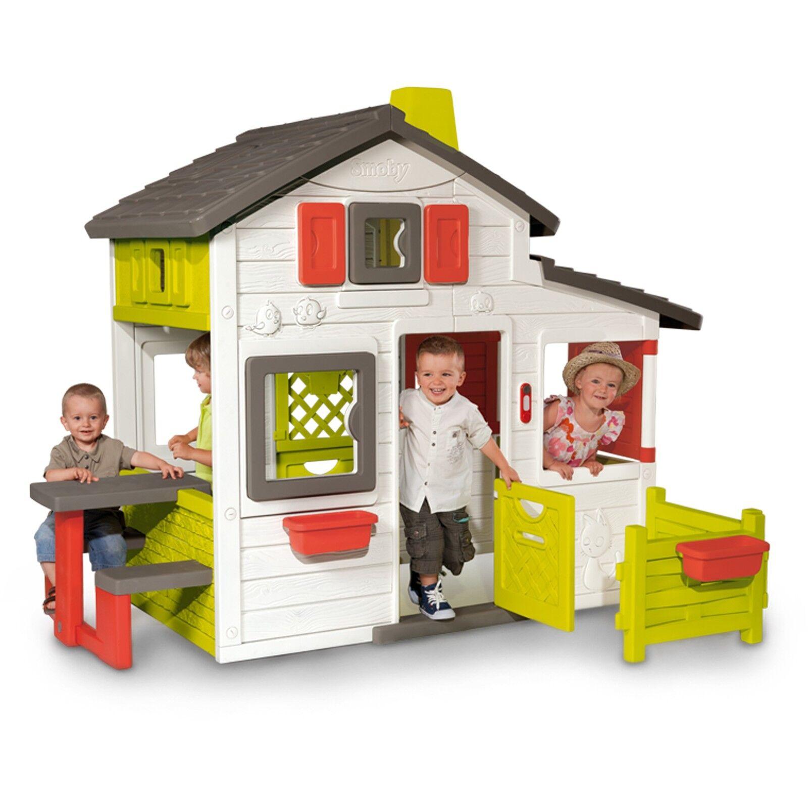 Smoby Friends House Spielhaus Gartenspielgerät weiß