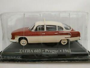 1-43-TATRA-603-PRAGUE-TAXI-1961-COCHE-DE-METAL-A-ESCALA