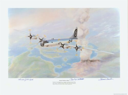 Paul Tibbets Enola Gay Lithograph signed by. Pilot Hiroshima Atomic bomb....
