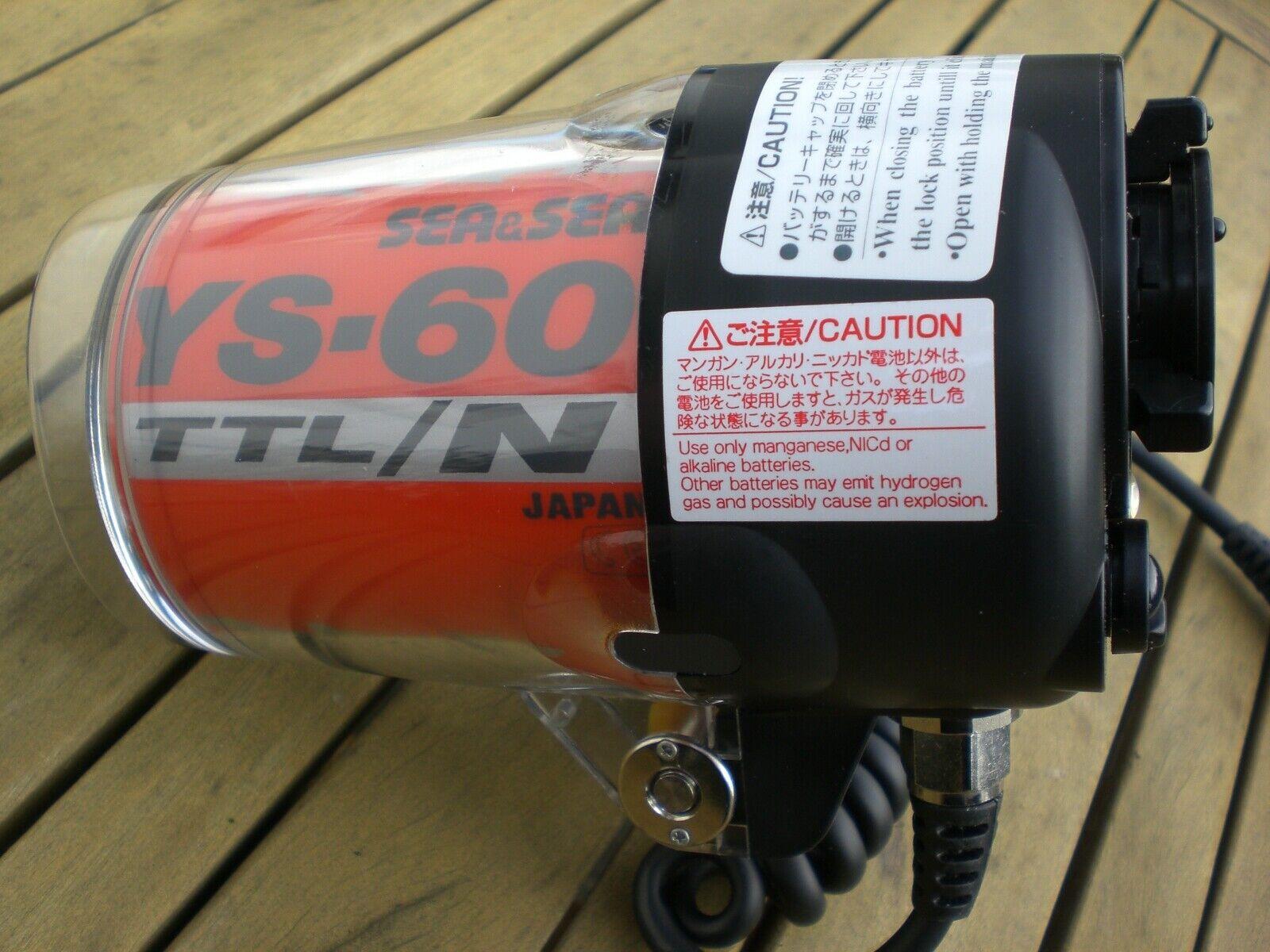 Sea&Sea Blitz YS 60 N auch für Digitalkameras und Nikonos
