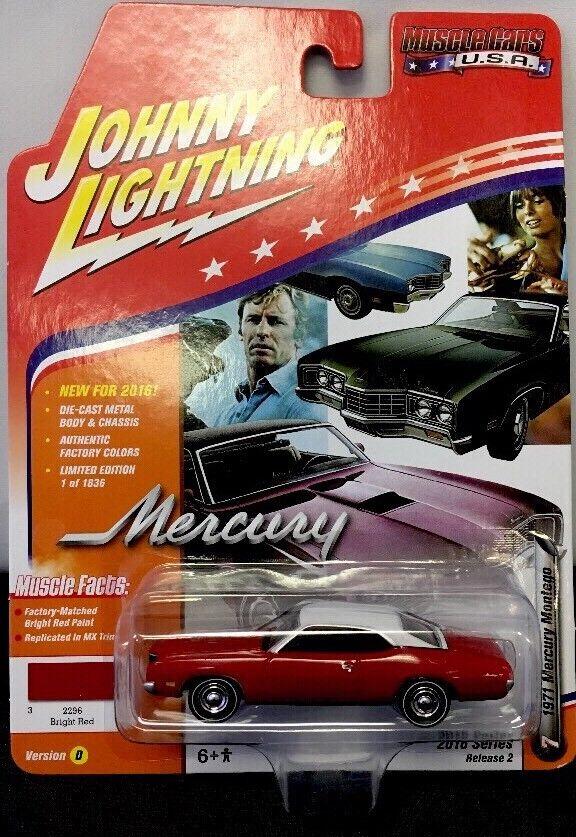 barato Johnny Johnny Johnny Lightning 1971 Mercury Montego RR Neumáticos Muscle Coches U.s.a. 2016 versión 2  el más barato