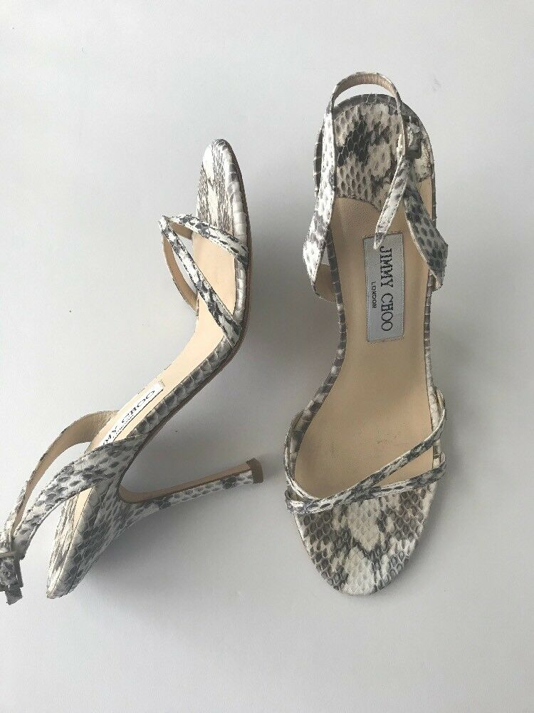JIMMY CHOO Snake Skin heels 39 Stiletto pumps sandals shoes ,295 stunning