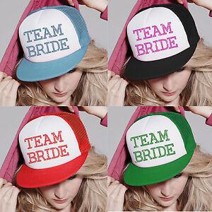 Crystal-Team-Bride-Wedding-Cap-hen-party-hat-night-Bridesmaid-gift-accessory