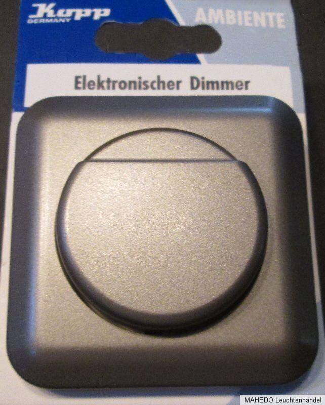 Unterputz UP Dimmer Schalter Wechsler Wippe Silber Grau Metallic KOPP AMBIENTE | Niedriger Preis