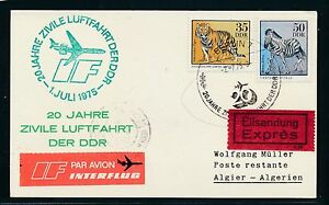 97426) Rda, Coursier So-carte If Ff Berlin-alger 2.7.75-afficher Le Titre D'origine