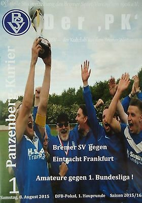Eintracht Frankfurt Programm Pokal 2015//16 Bremer SV
