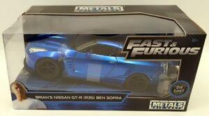 Jada-1-24-Scale-98271-Fast-amp-Furious-Brian-039-s-Nissan-GT-R-R35-Ben-Sopra