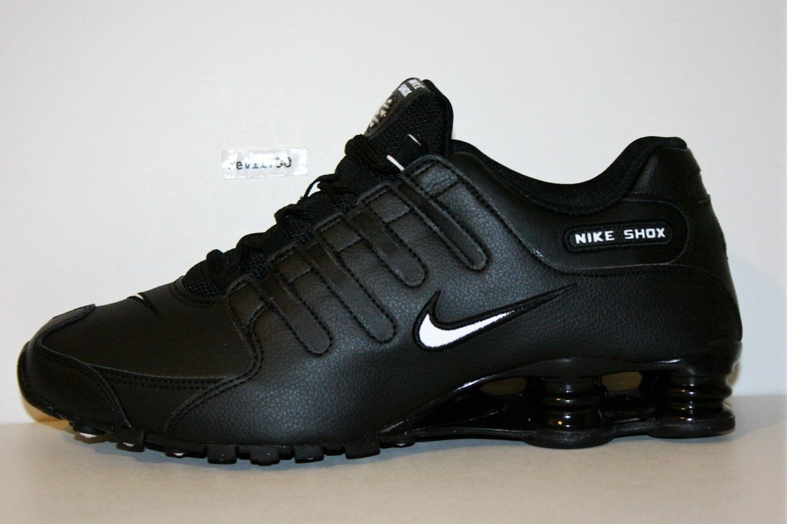 ed22bc7f57019b Nike Shox NZ Black White Mens Athletic Trainers UK 12 for sale ...