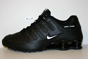 c92c78f6755 AUTHENTIC NIKE SHOX NZ Black White 501524 091 Running Shoes Men size ...