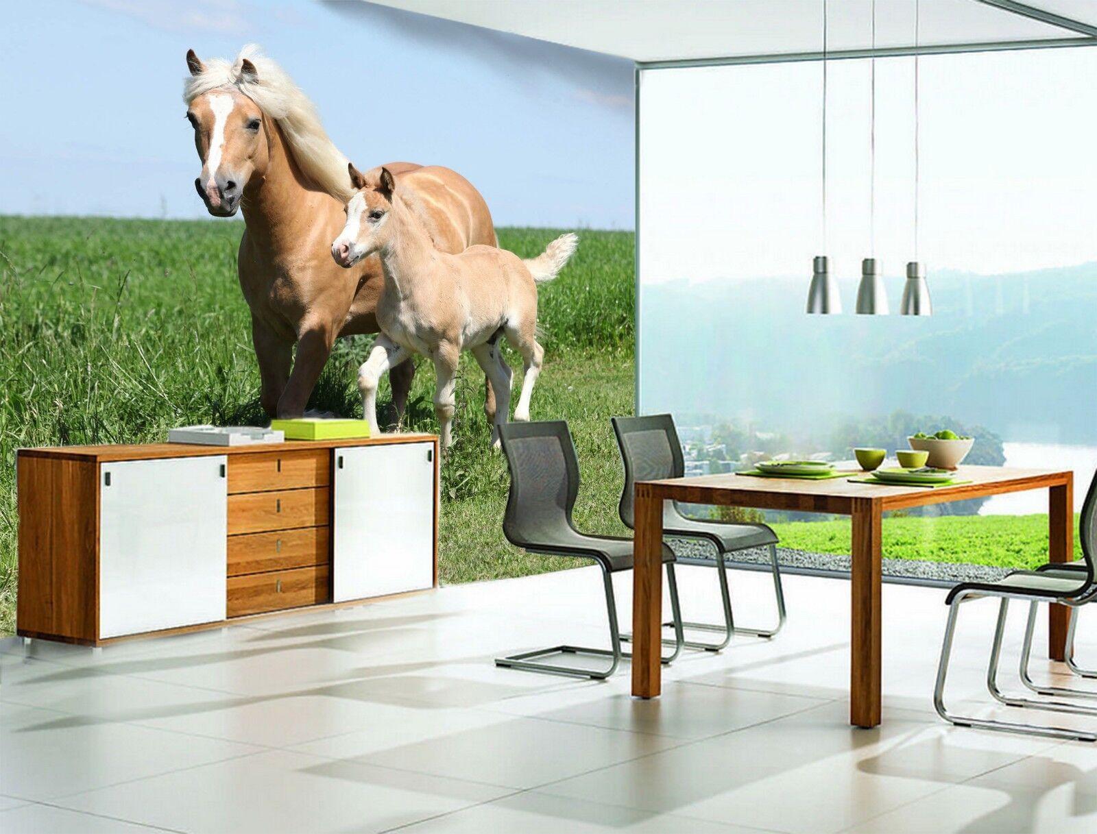 3D Donkey Lawn 7193 Wallpaper Mural Wall Print Wall Wallpaper Murals US Lemon