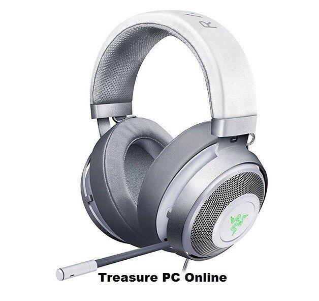 Razer Kraken 7.1 V2 Mercury White Oval Digital Gaming USB Headset RZ04-02060300
