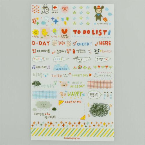 6Pcs//set Simple Life Stickers For DIY Scrapbooking Planner Cardmaking Journaling