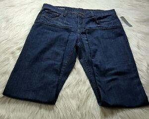 da1b4eafcdd NEW JcPenney Dark Wash Jeans Pants Sz 12 Cotton 34 X 32.5
