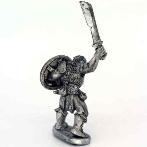 Half Orc with Sword held high 28mm Unpainted Metal Wargames