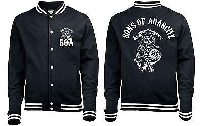 Sons Of Anarchy 'Classic' Baseball style Varsity Jacket - NEUF & Officiel