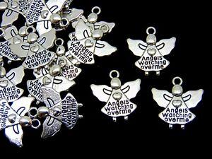 10-x-20mm-Tibetan-Silver-Angel-Charms-Beads-Craft-Jewellery-Beading-Pendant-K132