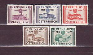 Osterreich-1955-D-10-Jahre-Wiederherstellung-Rep-Osterreich-Michel-1012-1016
