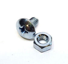 Stainless Steel Phillips Pan Head with Nut Machine Screw #6  1/2''L , Qty 24