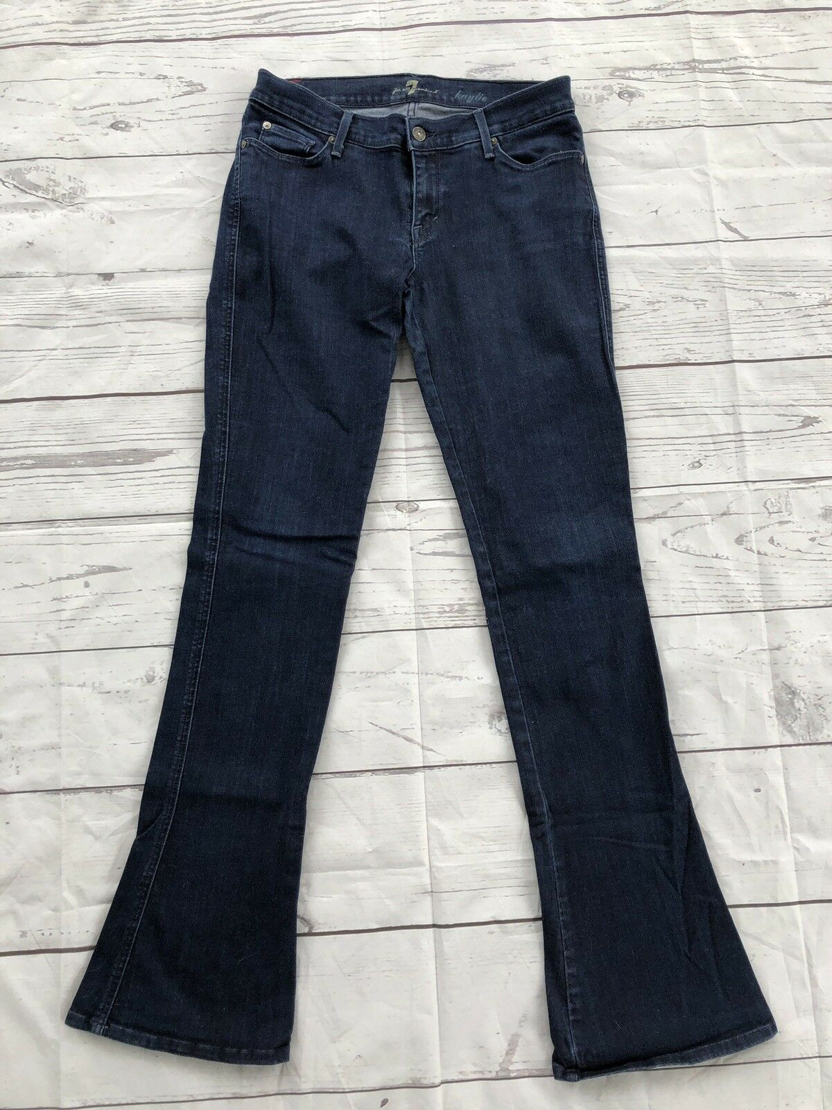 7 For All Mankind Womens Kaylie Dark bluee Flare Size 30