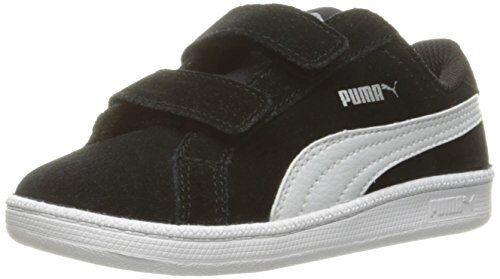 Baby Boy Puma Smash Fun V Inf Sneakers Black White Suede Walking