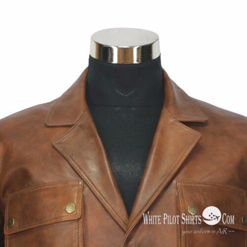 Antico Militare Pelle Uomo 4 Vintage Di Stile Giacca Douglas Tasche Marrone gY7Cq1wx