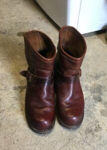 Vintage Durango Engineer Boots Brown 9.5E CORD soles