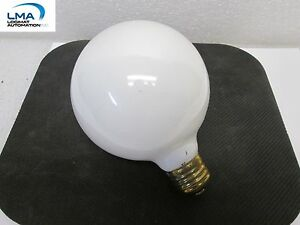 HASKEL-40W-WHITE-GLOBE-BULB-3-3-4-034-LIGHT-LAMP-130V-3000HRS-ROUND-G-30-NEW