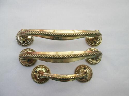 En laiton massif lourd corde bord Cabinet Armoire Tiroirs Poignées de portes pull