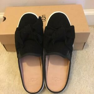 Luci Bow Black Mules Shoes Slip On