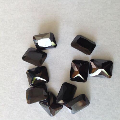 AAA-USA Black Octagon Cubic Zirconia CZ 10x12-9x11-5x7-3x5mm CZ Lots
