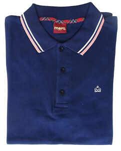 T-shirt-Polo-Maglia-Maniche-Corte-MERC-London-100-Cotone-Uomo-Men-Blu-Blue-1906