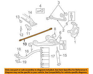 Details about GM OEM Front Suspension-Torsion Sway Bar Left 19332927