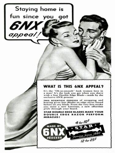 Reproduction. 6NX : Vintage Razor blade magazine advert Wall art Poster