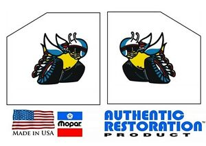 Dodge Scat Pack Bee 1//4 Window Decals OUTSIDE Licensed New