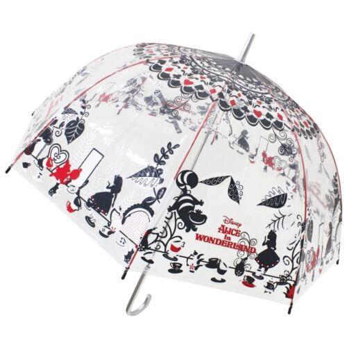 "Disney Alice in Wonderland Umbrella Clear plastic parasol 60cm 33.8/""Japan FS NEW"