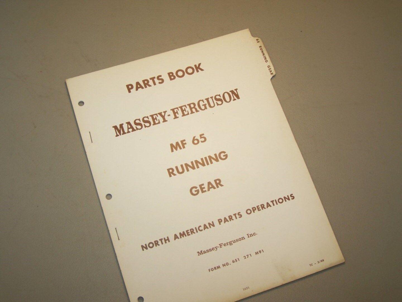 Massey Ferguson Mf 65 Mf65 Tractor Parts Book Manual Ebay Ford 8n