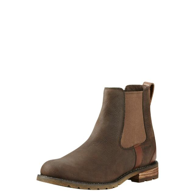 d08b9dce5e87 Ariat Wexford H2o Java Womens Leather Country Chelsea Riding Ankle ...