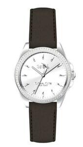 7ddf41645adc1 Coach Tristen Silver Dial Black Leather Strap Women s Watch 14502474 ...
