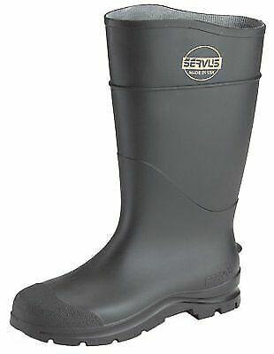 Servus Plain Toe PVC Waterproof Rubber Boots Size 12 Black 18822-BLM-120