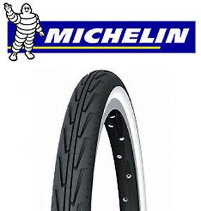 Pneu-Velo-MICHELIN-DIABOLO-confort-city-Noir-Blanc-tire-bike-Reifen-Fahrrad