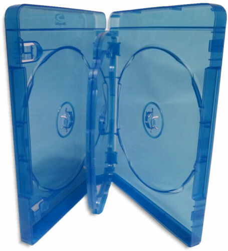 10-Pak 4-DISC 22mm Blu-ray Case with Swinging Tray /& Silver Blu-ray Logo