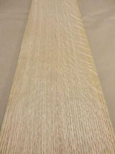 """White Oak Quartered Flake wood veneer 7/"""" x 50/"""" raw no back 1//42/"""" thickness A+"""