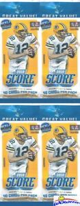 4-2018-Score-Football-Factory-Sealed-JUMBO-FAT-Retail-Packs-160-Cards-Loaded