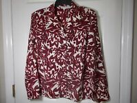 Cabin Creek Long Sleeve Abstract Floral Women's Blouse Shirt - Size S
