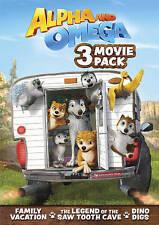 Alpha and Omega: 3 Movie Pack (DVD, 2016, 3-Disc Set)